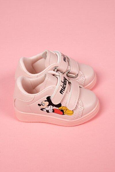 Kız Çocuk Pembe Baskılı Spor Ayakkabı 883-101