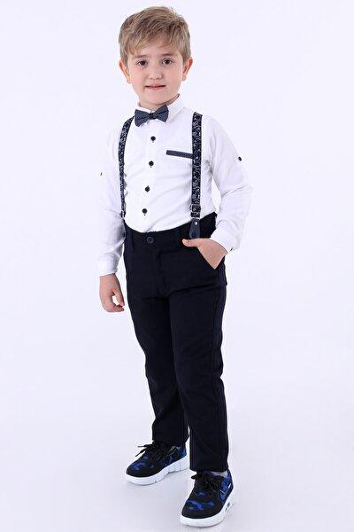 Erkek Çocuk Beyaz Oxford Gömlekli 1-8 Yaş Papyonlu Takım 6252