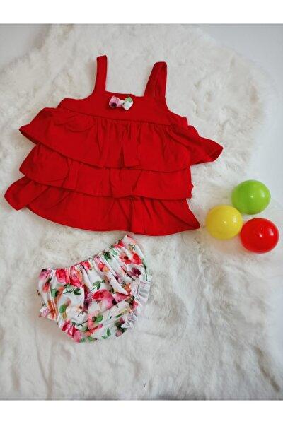 Flower Kırmızı Elbise