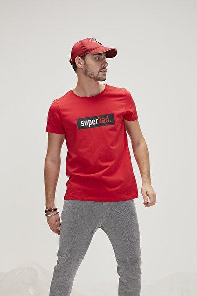 Kırmızı Erkek Tişört SUPERBAD TEE CRIMSONRED