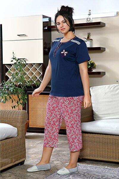 Kadın Büyük Beden Kapri Yazlık Penye Pijama