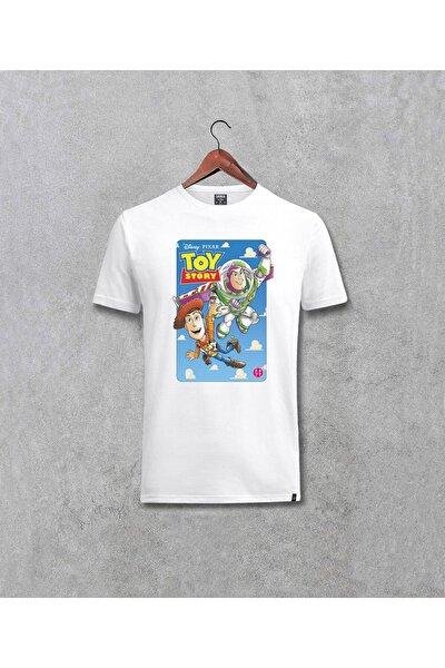 Toy Story Anime Baskılı Tasarım Beyaz Tişört