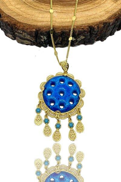 925 Ayar Gümüş Telkari Işlemeli Altın(gold) Kaplama Midyat Süryani Nazar Boncuğu 9 Gözlü Kolye