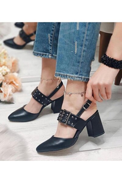 Kadın Siyah Klasik Topuklu Ayakkabı