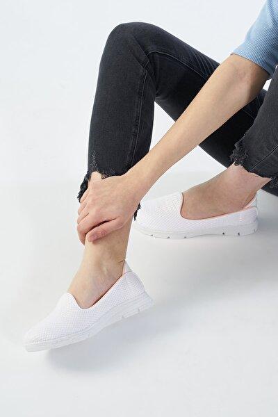 Beyaz Kadın Spor Ayakkabı TS1032