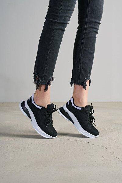 Kadın Siyah Beyaz Sneaker TS1018