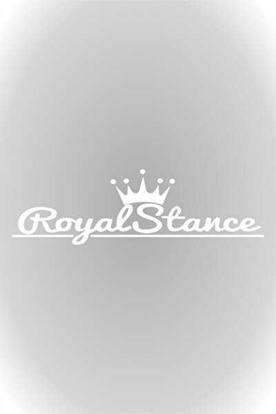 20 Cm Beyaz Royal Stance Oto Sticker, Araba Sticker