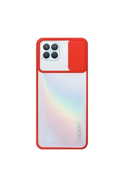 Nihcase Reno4 Lite Kılıf Lensi Kamera Korumalı Silikon Kırmızı