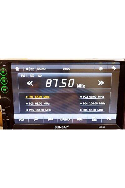 Sunsay 7 Inc Double Oto Teyp Bluetooth Usb Sd Kart Mirrorlink Park Kamera Hediyeli 7018b