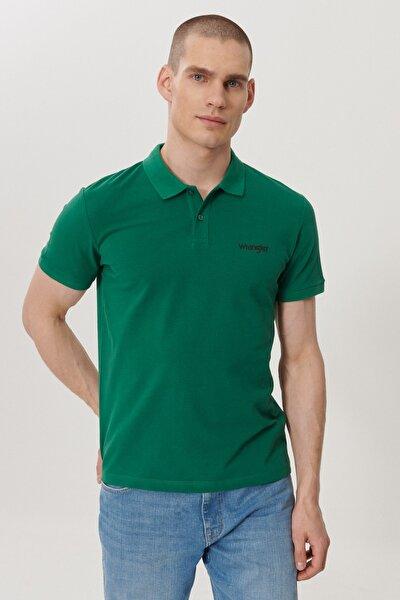 Erkek Yeşil Regular Fit Polo Yaka T-shirt