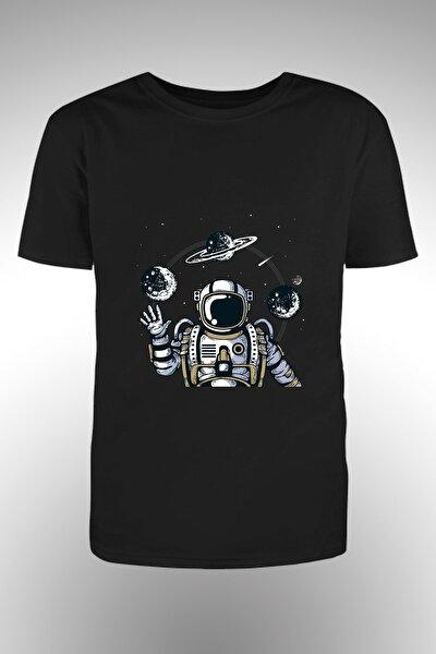Astronot Baskılı T-shirt