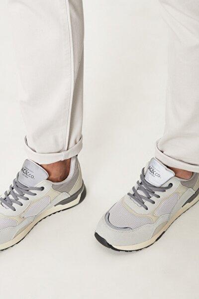 Erkek Bej Casual Spor Sneaker Ayakkabı