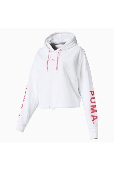 Kadın Beyaz Spor Sweatshirt