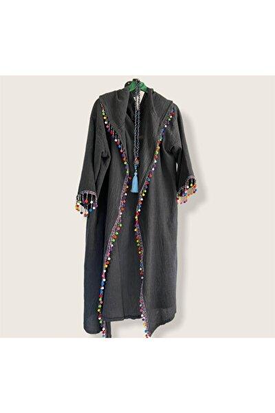 Şile Bezi Kapüşonlu Cadı Kimono