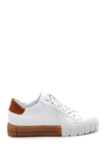 Kadın Beyaz Taba Detay Sneaker