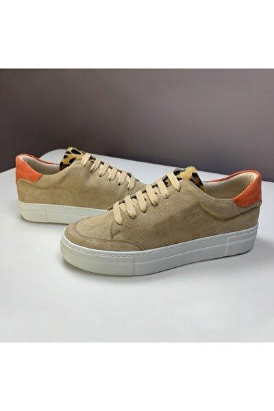 Kadın Bej Turuncu Goose' T Basıc Sneaker