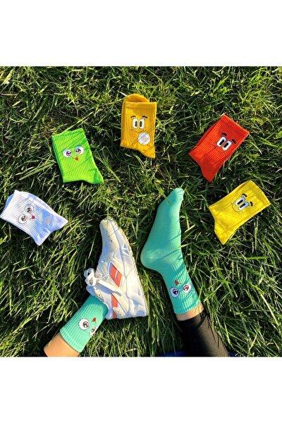 Unisex 6 Renkli Desenli Çorap Seti