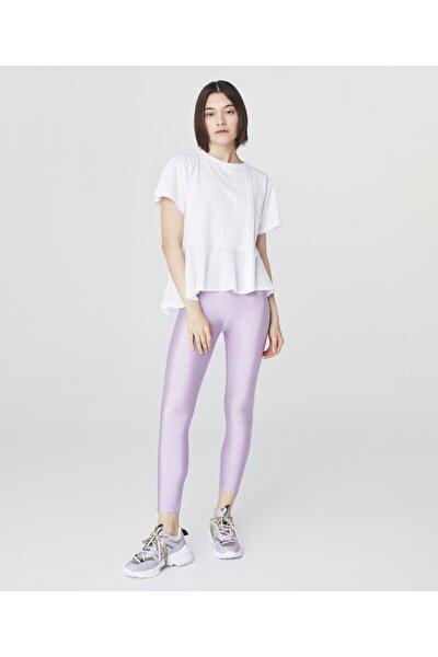 Kadın Beyaz Dokuma Mixli T-Shirt