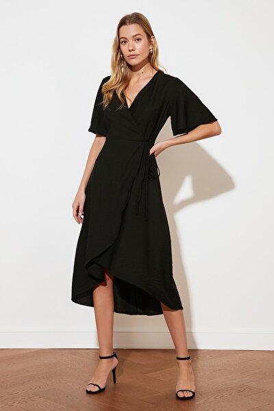 Siyah Kruvaze Elbise TWOSS21EL2071