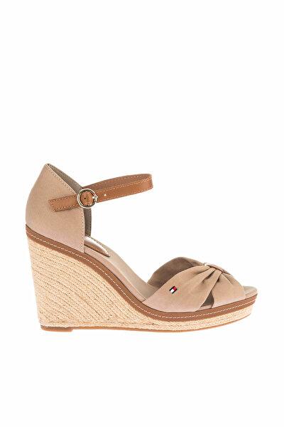Kadın Gri Dolgu Topuklu Ayakkabı Iconıc Elena Sandal FW0FW00905