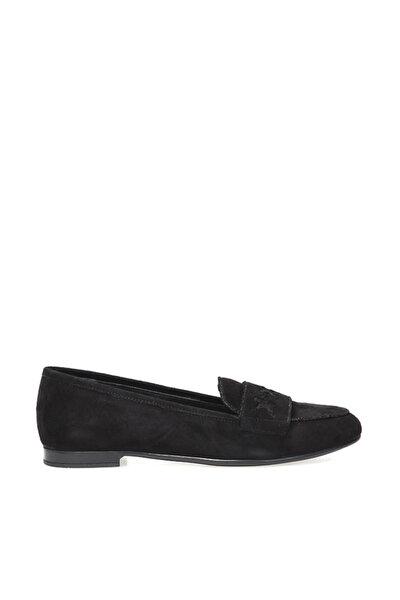 Hakiki Deri Siyah Kadın Ayakkabı