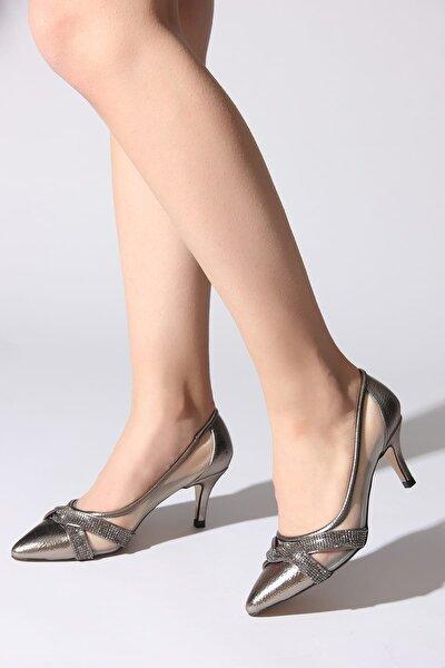 Platin Kadın Klasik Topuklu Ayakkabı 11110389408-02
