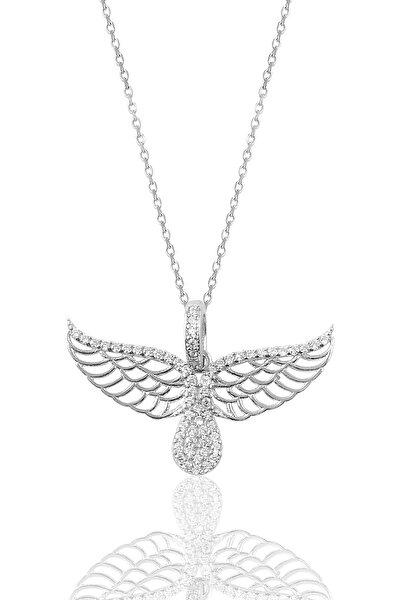 Kadın Gümüş Kanat Kolye SGTL9108