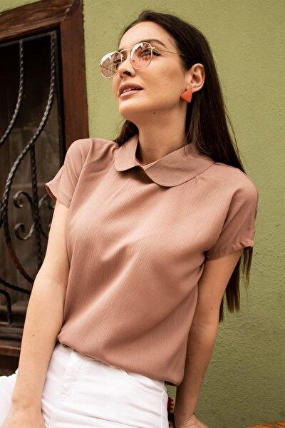Kadın Vizon Bebe Yaka Bluz ARM-19Y001064
