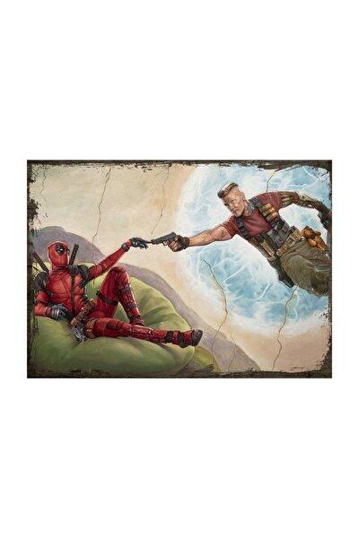 25cmX35cm Ahşap Tablo Deadpool 2