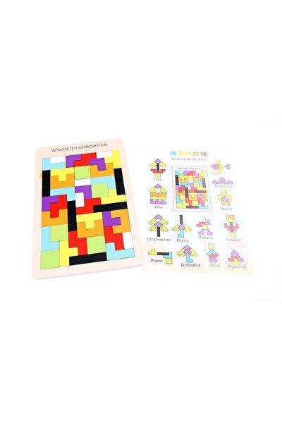 Ahşap Blok Tetris Oyunu /