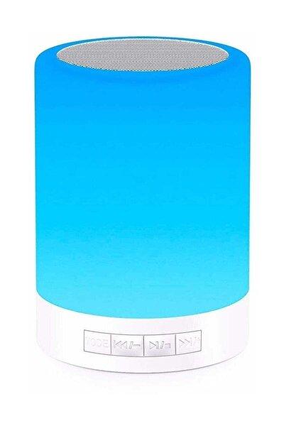 Renk Değiştiren Led Işıklı Taşınabilir Kablosuz Bluetooth Hoparlör