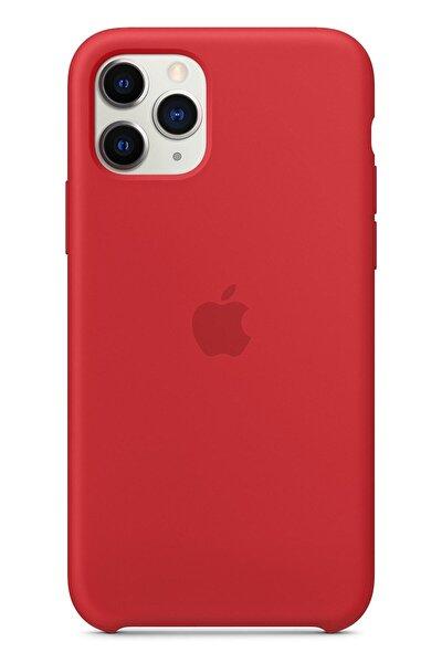 Apple Iphone 11 Pro Max Silikon Kılıf Kırmızı