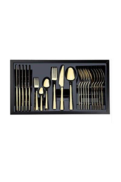 Wosso 36 Parça Gold Çatal/bıçak/kaşık Seti