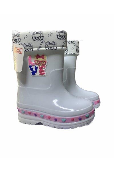 Beyaz Kız Çocuk Yağmur Çizmesi