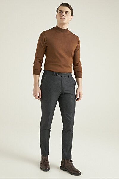 Twn Antrasit Düz Kumaş Pantolon