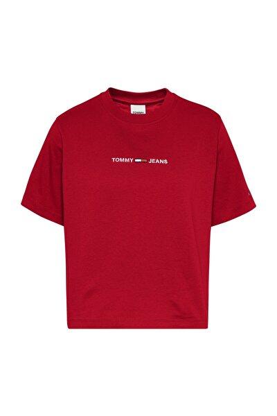 Kadın Kırmızı T-Shirt Tjw Lınear Logo Tee DW0DW10057XNL