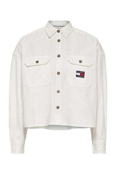 Kadın Beyaz Gömlek Tjw Cropped Utılıty Shırt DW0DW09771