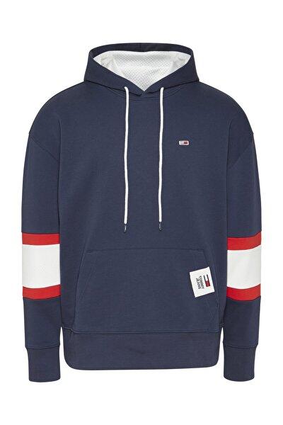 Erkek Mavi Sweatshirt Tjm Rwb Hoodıe DM0DM10657