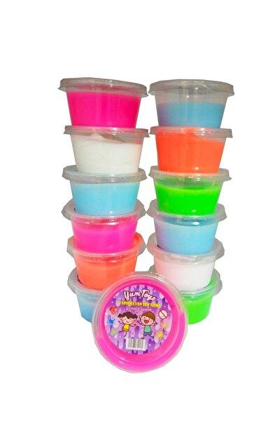 Slime Oyun Jeli Yumtoys Kutu Polymer Slime Eğitici Oyun Seti 6 Adet 80 gr