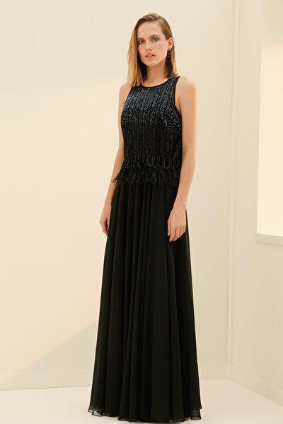 Kadın Siyah Elbise IS1180002360