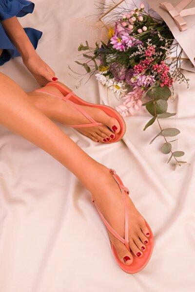 Turuncu Kadın Sandalet 15921
