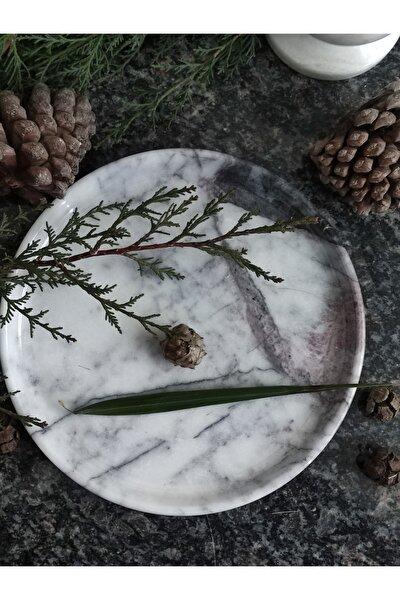 Lilac (Leylak) Mermeri Dekoratif Veya Sunum Tabağı Gerçek Mermer