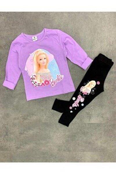 Ayaz Baby Kids Mor Renk Barbie Taytlı Takım
