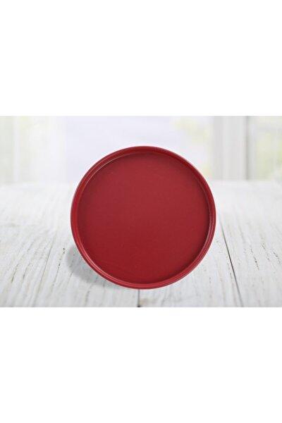 Kırmızı Pasta Tabağı 21 cm 6 Adet