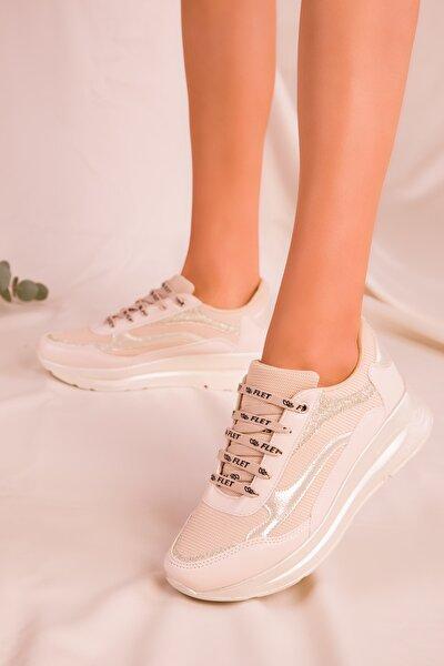 Bej Kadın Sneaker 15950