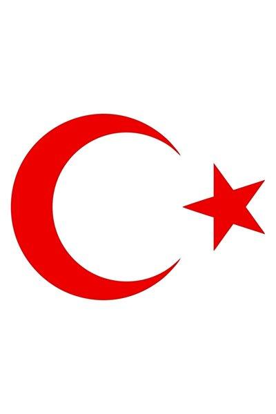 30 cm Kırmızı Ay Yıldız Sticker Türk Bayrağı Sticker