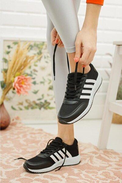 Unısex Günlük Ayakkabı Sneaker File Detaylı Siyah
