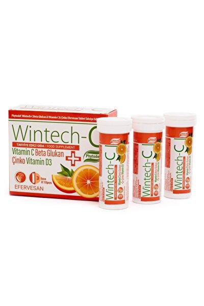 Wintech C Beta Glukan Vitamin C  Çinko 30 Efervesan Tablet