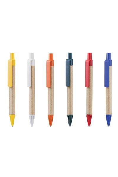 20 Adet Doğa Dostu Geri Dönüşümlü Basmalı Tükenmez Kalem (mavi Mürekkepli)