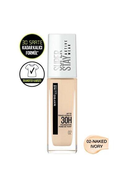 Super Stay Active Wear 30h Fondöten 02 Naked Ivory